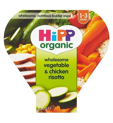 HiPP Organic Wholesome Vegetable & Chicken Risotto 1-3 Years 230g
