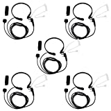 Retevis Throat Mic 2 Way Radio Earpiece Covert Acoustic Tube Headset for Baofeng BF-888S Retevis H-777 RT22 RT1 Arcshell AR-5 Walkie Talkies (5 Pack)