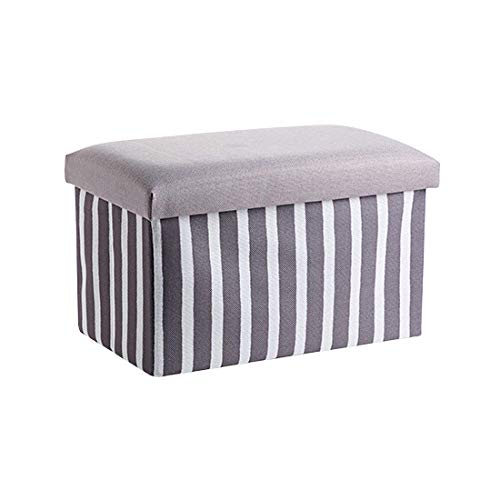 ZXXFR wasmanden inklapbaar, grijze strepen kunnen zitten mensen washamers met handvat grote capaciteit inklapbaar gemakkelijk te dragen geschikt voor slaapkamers wasruimte opslag