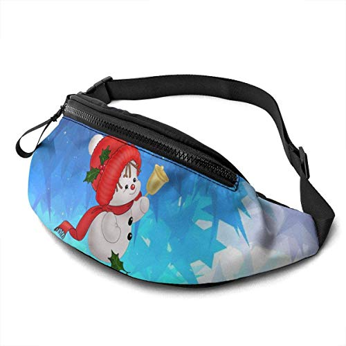Lovely Christmas Snowman Fashion Casual Waist Bag Fanny Pack Travel Bum Bags Running Pocket for Men Women