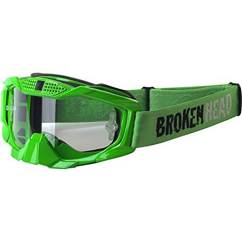 Broken Head MX MX-1 Goggle - Motorrad-Brille Für Motocross, Enduro, Downhill, Offroad - Mit UV-Schutz - Grün