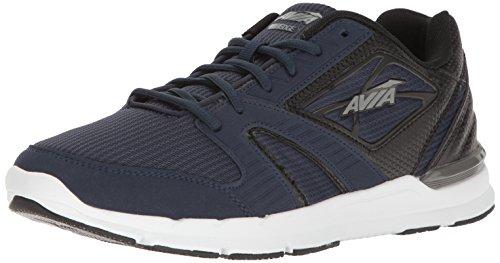Avia Men's avi-Edge Cross-Trainer Shoe, True Navy/Black/Frost Grey, 9 M US
