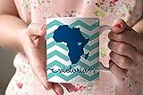 Kaffeebecher, Keramik, 313 ml, Chevron Afrika, Adoptions-Geschenk