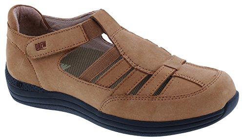 Drew Shoes Maryann Women's Therapeutic Diabetic Extra Depth Shoe: Cork/Nubuck 11 X-Wide (2E) Velcro