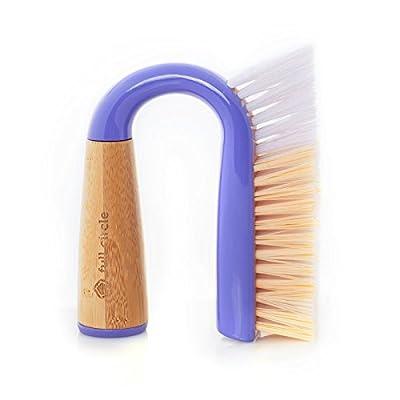 Full Circle Grunge Buster Grout & Tile Scrub Brush, Purple