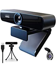Webcam 1080P HD PC Webcam with Mic and Stand/Privacy Protection,Plug&Play, Webcam for Live Streaming,Recording,Video Chat,Conference,Online Courses, Compatible with Windows, Mac and Android