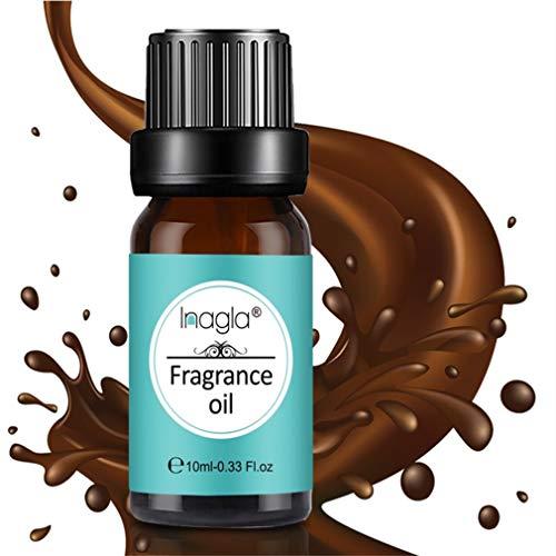 Inagla Aceites de Fragancia, Aceites de Aromaterapia, Aceites Esenciales para Humidificadores de Leche con chocolate 10ML
