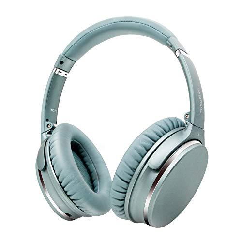 Noise Cancelling Kopfhörer Leichte,Srhythm NC25 Over Ear ANC Kopfhoerer Bluetooth Kabellos Faltbar mit Duale 40 mm HD Tieftontöner,Eingebaut Mikro,HiFi,CVC6.0 für Alle Geräte mit Bluetooth (Minzgrün)