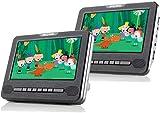 Nextbase 7T - Lettore DVD da 7 pollici per poggiatesta auto, schermo ampio e multi schermo USB, lettore di schede SD