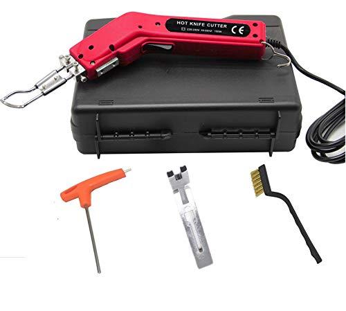 Seababyhouse Heisscheidegerät Heißschneidegerät Professionelles Handheld-Elektrisches Heißes Messer Stoffschneider und Heißsiegelgerät zum Schneiden,Seil, Leinwand,Stoffen,mit Schneiderfuß,Tragetasche