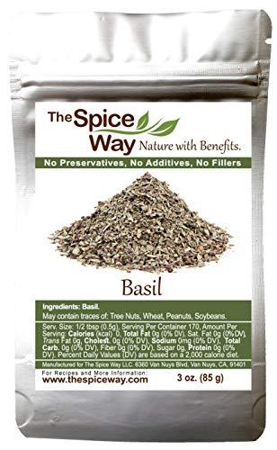 The Spice Way Basil Leaves - | 3 oz | pure dried basil leaf