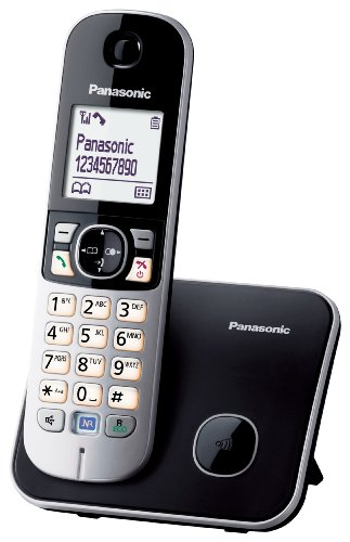 Panasonic KX-TG6811GB DECT-Schnurlostelefon, GAP Telefon, Festnetz, schwarz