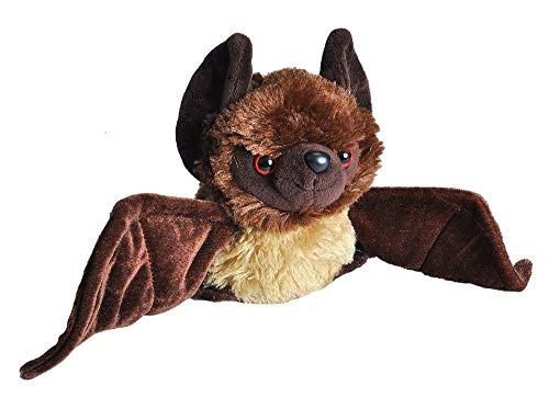 Wild Republic Bat Plush, Stuffed Animal, Plush Toy, Gifts for Kids, HUG'EMS 7 inches
