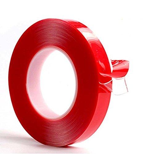 Zooarts - Cinta adhesiva de espuma acrílica transparente de doble cara de alta resistencia, transparente