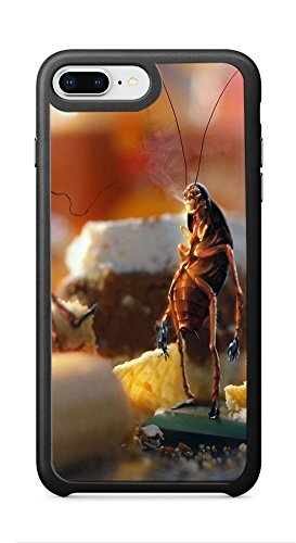 VUTTOO Case for Apple iPhone 8 Plus 5.5inch (Not Fit 4.7inch) - April Fools Day Cockroaches Bread Kitchen Case - Shock Absorption Protection Phone Cover Case