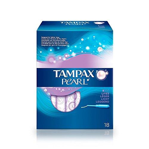 Tampax Pearl–Stempel mit Applikator Kunststoff X 18–leicht