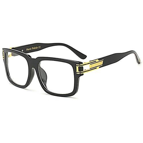 SHEEN KELLY heren zonnebril metaal goud vierkant vintage designer zonnebril Classic UV400