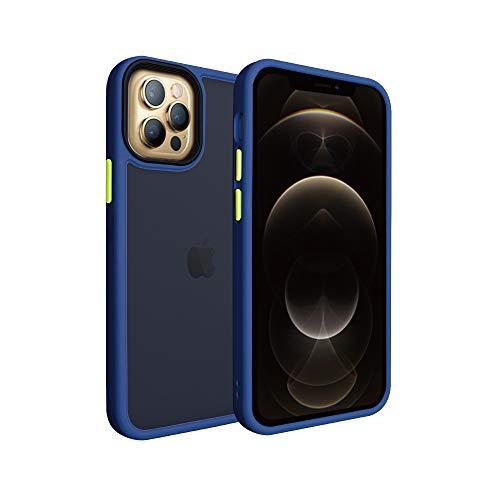 シズカウィル(shizukawill) Apple iPhone12 / 12 Pro アクティブハイブリッド ケース 米軍MIL規格準拠 耐衝撃 高耐傷 カバー 背面 スモーククリア ナノコーティング加工 ストラップホール付 ストラップ付 iPhone 12 アイフォン 12プロ 12pro iphone12 Active Hybrid 端末 ケース カバー Blue色