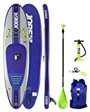 Jobe Yarra Inflatable Stand Up Paddle Board SUP 10'6 x 32 INC Paddle, Backpack, Pump & Leash/Strap - Waterproof Sprayproof