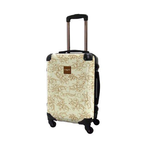 [キャラート] アート スーツケース 機内持込可 保証付 31L 57cm 3.2kg CRA01H-002E ライトイエロー ライトイエロー