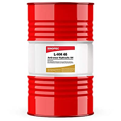 Sinopec AW 46 Hydraulic Oil Fluid (ISO VG 46, SAE 15) - 55 Gallon Drum (1)