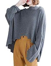 ニットトルマンスリーブ レディース 秋 不規則な上着ニットセーター 大きいサイズ 体型カバー