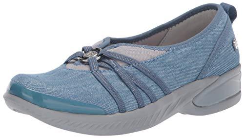 BZees womens Niche Sneaker, Washed Denim Fabric, 7 US