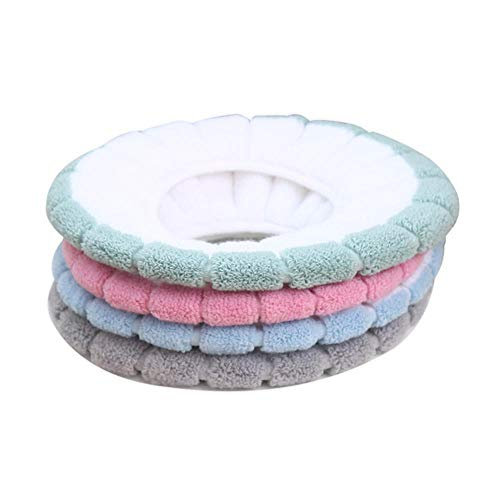4PCS Cojín de asiento de inodoro Cubierta de Asiento almohadilla para asiento de inodoro asiento del inodoro Warmer Cushion