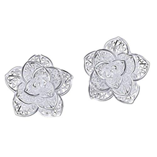3 Paires Papillon Creux Papillon Cute Fashion 925 Silver Gold Rose Gold for Women Girls EQLEF Boucles Doreilles Femme