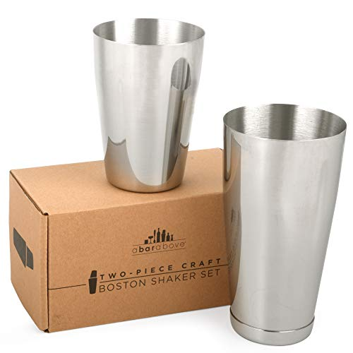 Top Shelf Bar Supply Edelstahl Boston Shaker: 2-teiliges Set: professionelle Barkeeper Cocktail-Shaker 18 Unzen und 28 Unzen rostfreier Stahl
