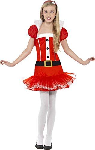 Christmas Fancy Dress party Little Miss Santa tutu adolescente costume completo