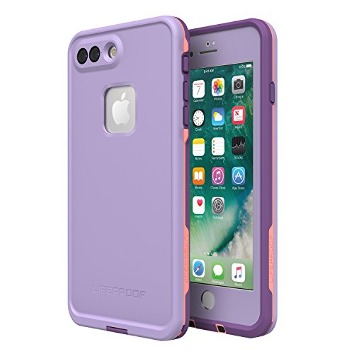 Lifeproof FRē Series Waterproof Case for Iphone 8 Plus & 7 Plus - Retail Packaging - Chakra (Rose/Fusion Coral/Royal Lilac)