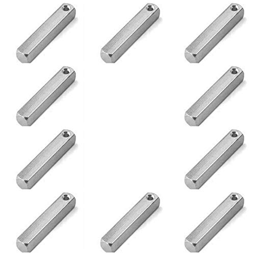 Ten ImpressArt Aluminum 3-D Rectangle Stamping Blanks, 3D so You can Stamp on 4 Sides! Light Weight Aluminium 1 1/2