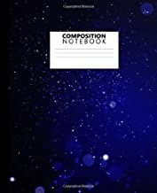 Composition Notebook: Trendy Bokeh Lights & Starry Sky Wide Ruled Journal & Notebook for Students, Kids & Teens | Adorable Blank Wide Lined Journal for School & College for Writing & Notes.