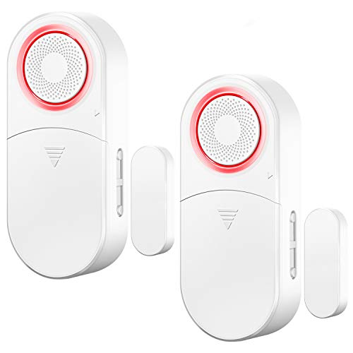 Drahtloser Türalarm Fensteralarm Batterie Betrieben, über 120 Dezibel Laut, 4 Verschiedene Arbeitsmodi von Alarm oder Aufmerksam (2er-Pack)