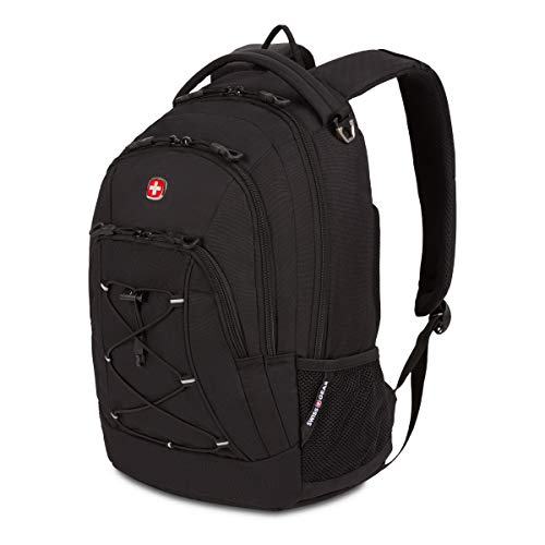 "SwissGear Travel Gear Lightweight Bungee Backpack - for School, Travel, Carry On, Professionals 17.5"" x 11.5"" x 7.5""…"
