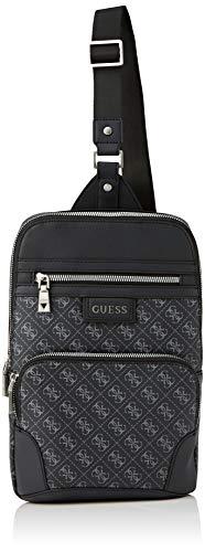Guess Herren DAN Logo Crossover Bags Briefcase, schwarz, Einheitsgröße