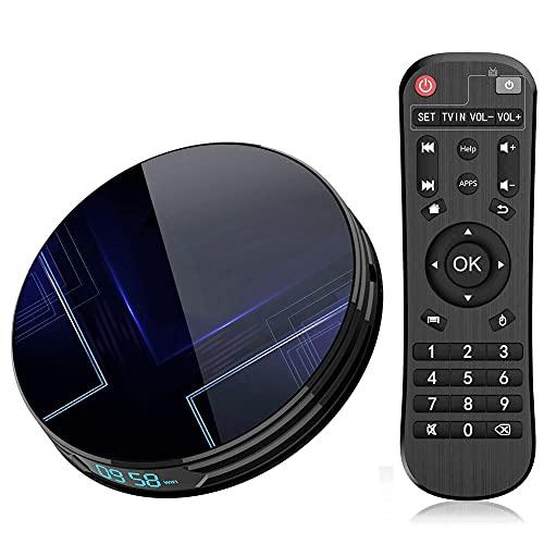 SSRSHDZW TV Box Smart Player Android 9.0 AMLOGIC S905X3 CPU 8K 1000M 4GB 32GB 64GB 128GB Dual WiFi Bluetooth 4.0 Wireless Media Player QCTA Core Android Smart Box,4gb+128gb