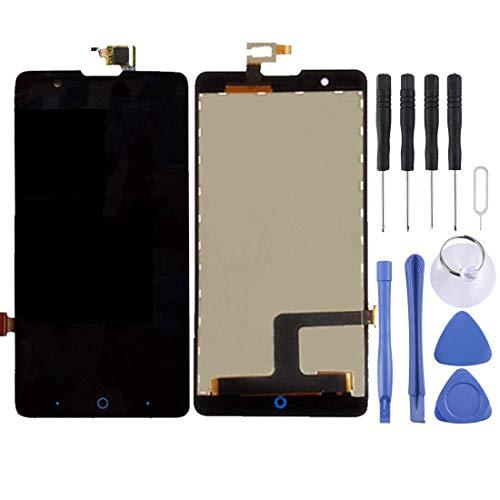 Hencik Pantalla LCD y digitalizador completo para ZTE Red Bull V5 / U9180 / V9180 / N9180 / negro (color: negro) Accesorios para teléfonos móviles (color negro)