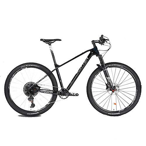 DRAKE18 Kohlefaser-Mountainbike, 29-Zoll-12-Gang-Getriebe GX Doppelscheibenbremsen Herren-Cross-Country-Klettern Erwachsene Damen Outdoor-Reiten,B,29in*16in