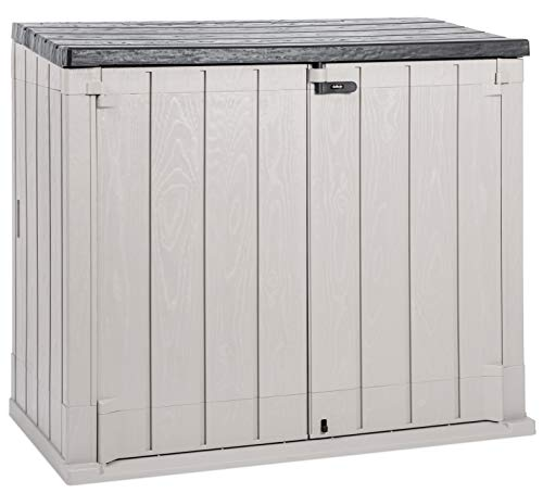 Toomax Stora Way Plus XL All-Weather Resin Outdoor Horizontal Storage Shed Cabinet for Trash Cans and Yard Tools, 44 cu ft