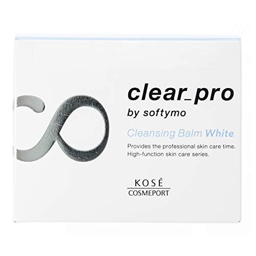 ソフティモKOSEクリアプロクレンジングバームホワイト高機能スキンケアクレンジング透明感毛穴ハリくすみごわつき保湿しっとりリラックスハーブの香り90グラム(x1)