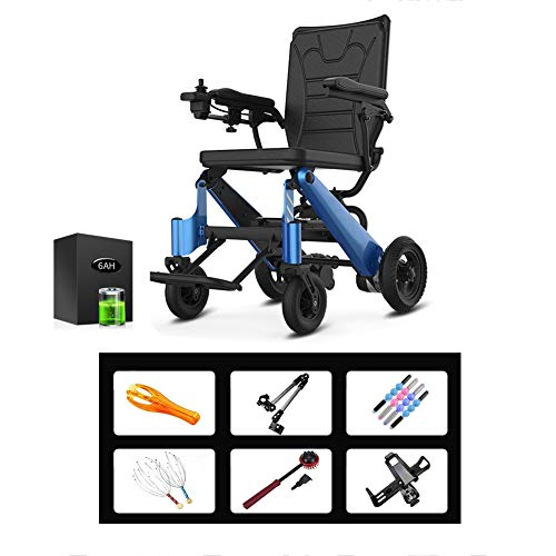 Find Bargain Intelligent Lightweight Foldable Electric Wheelchair, Portable Folding Carry Motorized ...