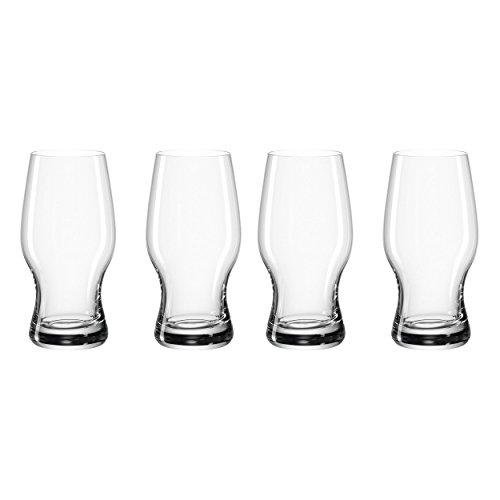 LEONARDO Taverna Bierbecher, 4er Set, Bier Becher, Bierglas, Craftbierglas, Craftbier, Glas, 330 ml, 049449