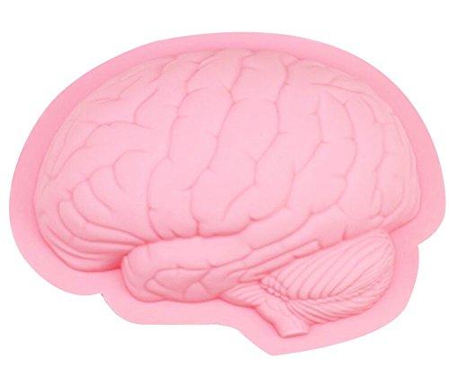 Yatim DIY Human Brain Shape Silicone Baking Mold for Homemade Soap, Cake, Cupcake, Bread, Muffin, Pudding, Jello, Bread, Cheesecake, Cornbread, Biscuit