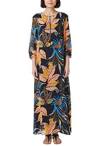 s.Oliver Damen 14.903.81.2502 Kleid, Blau (Dark Blue AOP 58b4), (Herstellergröße: 40)