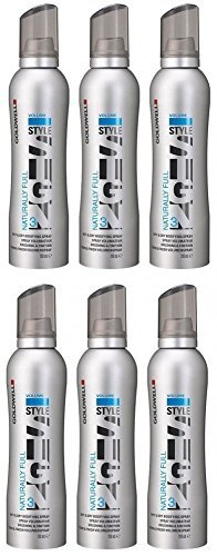 Goldwell Naturally Full 6 x 200 ml Style Sign Volume GW Föhn & Finish Volumenspray by Goldwell