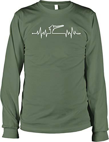 NOFO Clothing Co Fly Fishing Heartbeat Men's Long Sleeve Shirt, L Moss