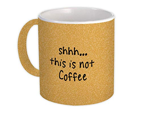 Shhh, esto no es café : Regalo Jarra : Cita Bebida Bar Capuchino Irreverente Divertido