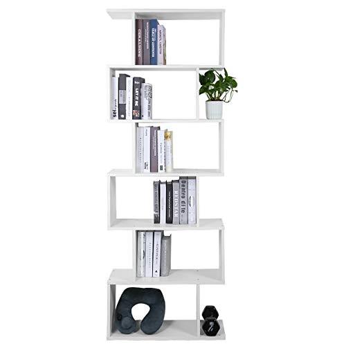 Meerveil Bücherregal Würfelregal Bücherschrank Aufbewahrungsregal Standregal zur Präsentation (70 x 23.5 x 190.5 cm)